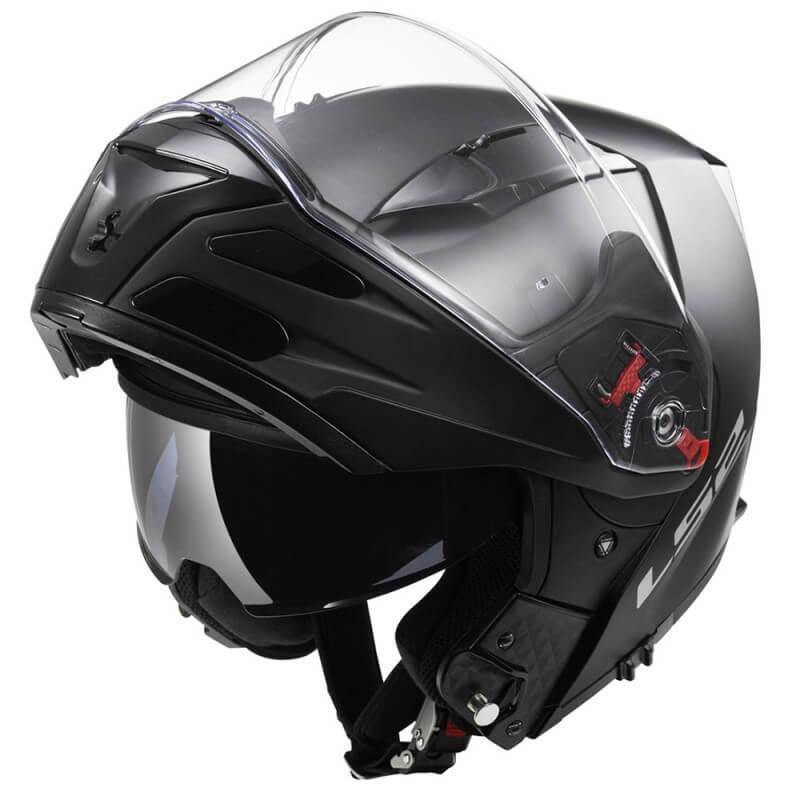 84775c030e5 LS2 Metro Solid Matt Black Výklopná moto přilba - Bolder - Moto oblečení