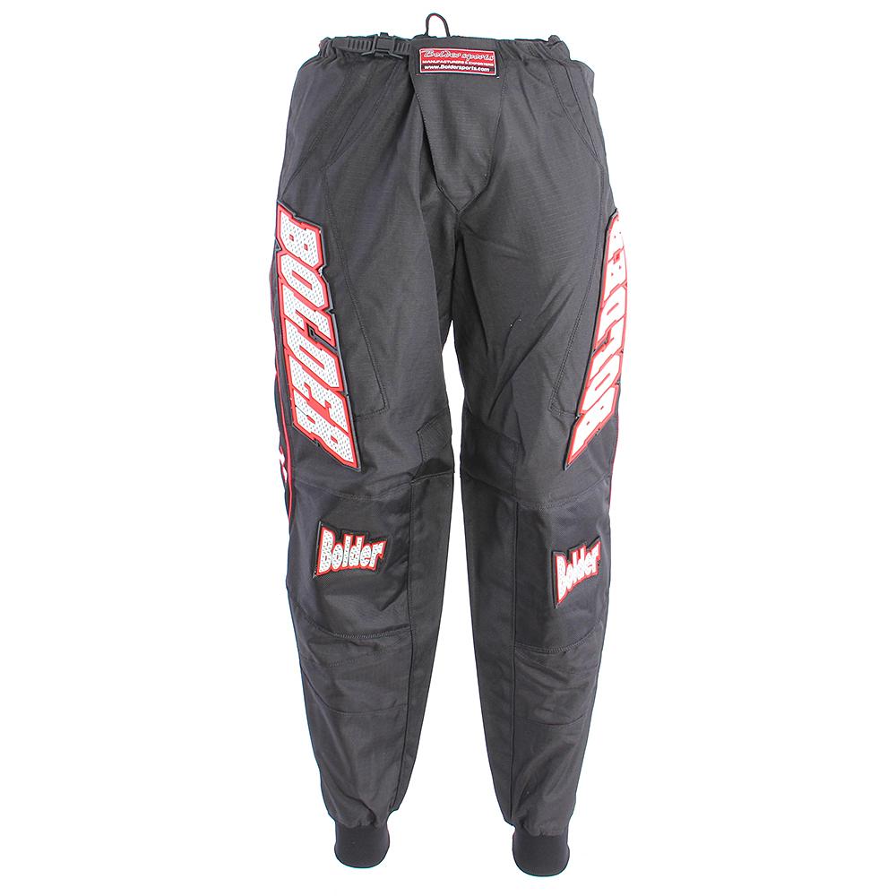 Kalhoty Motocross černo - červená - Velikost: 38