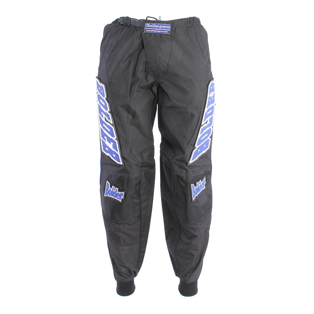 Kalhoty Motocross Kids černo - modrá - Velikost: 24