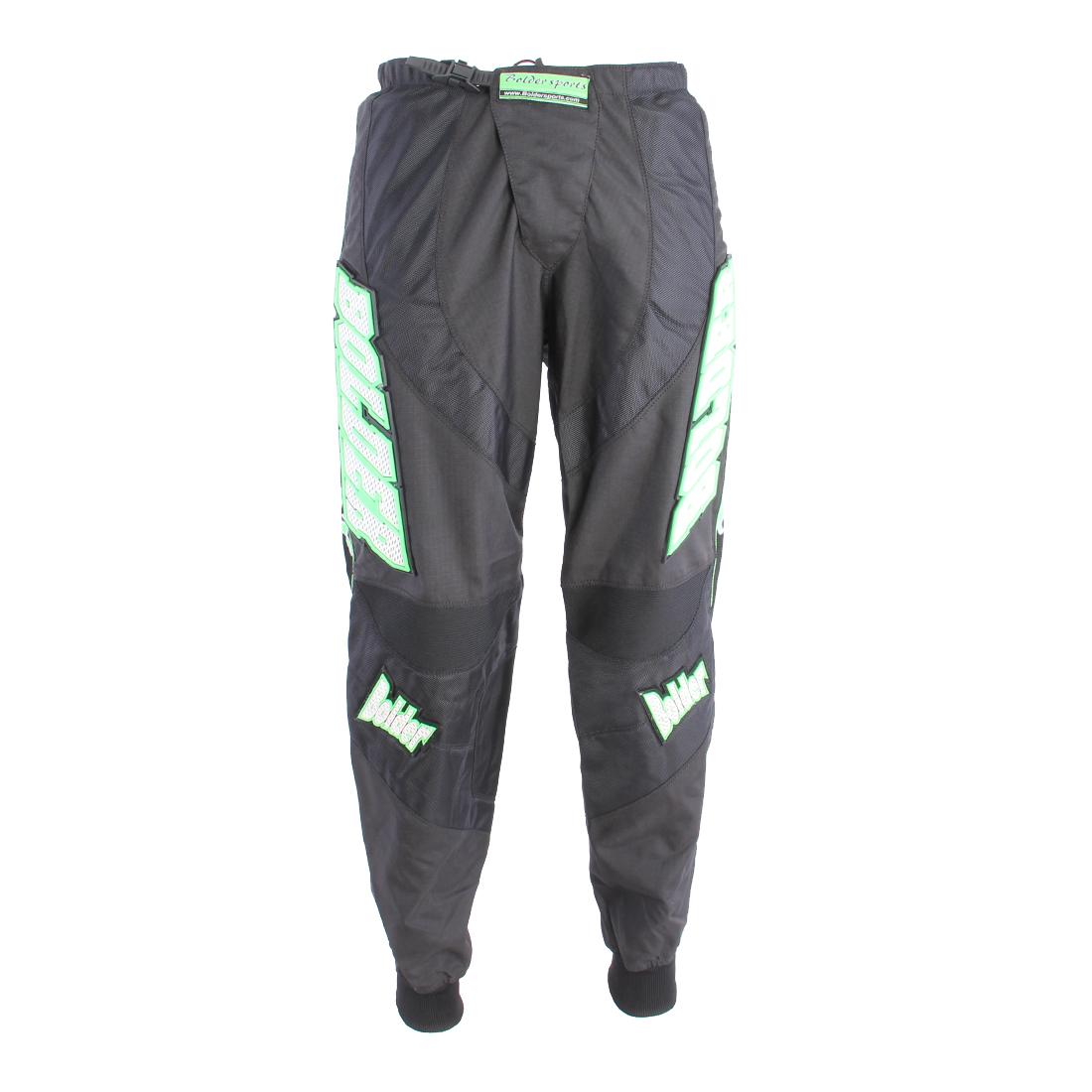 Kalhoty Motocross černo - zelená - Velikost: 38