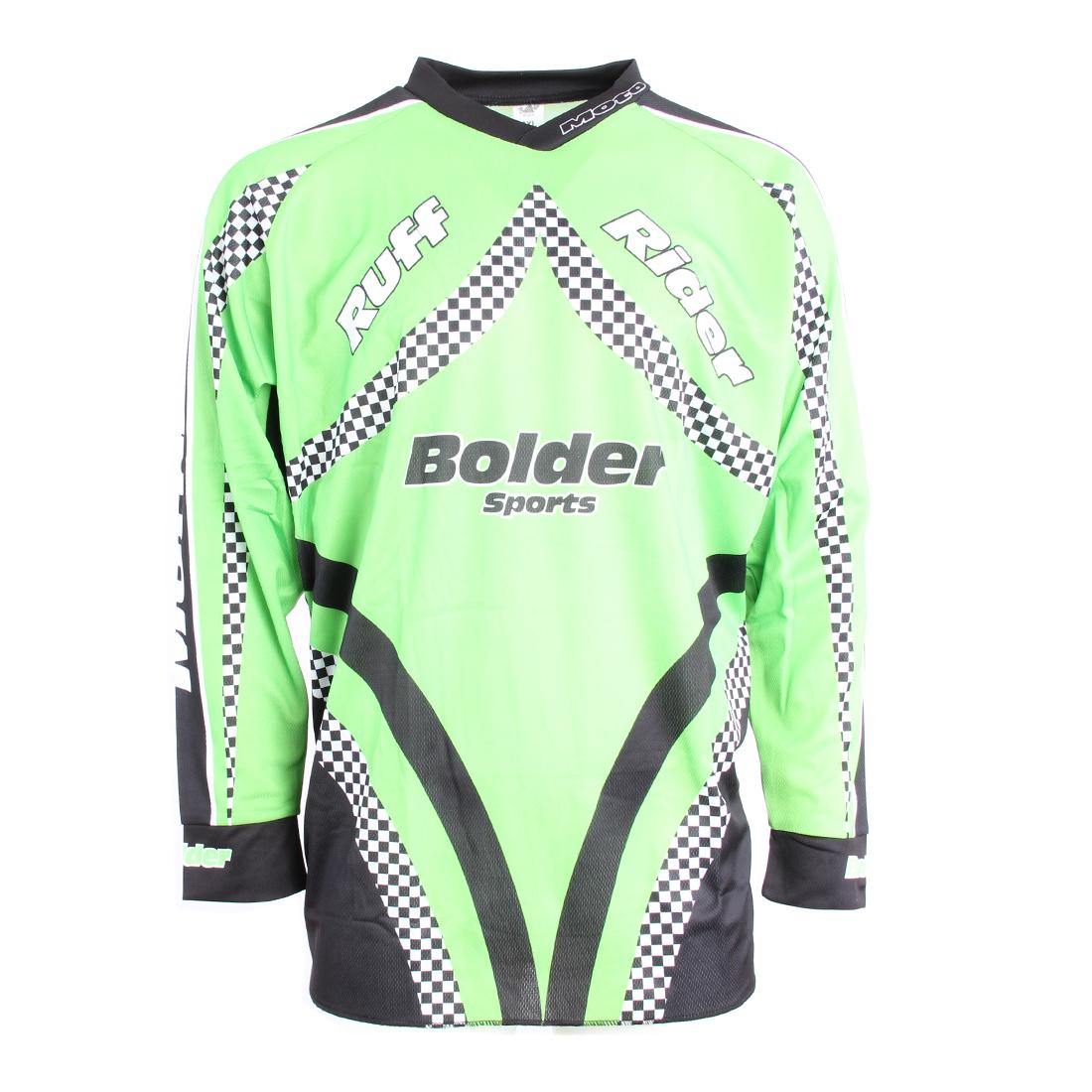 Triko Motocross zelené - Velikost: 2XL