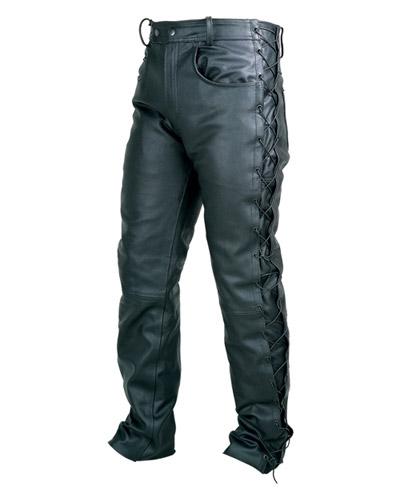Kalhoty kožené Chopper - Velikost: 54