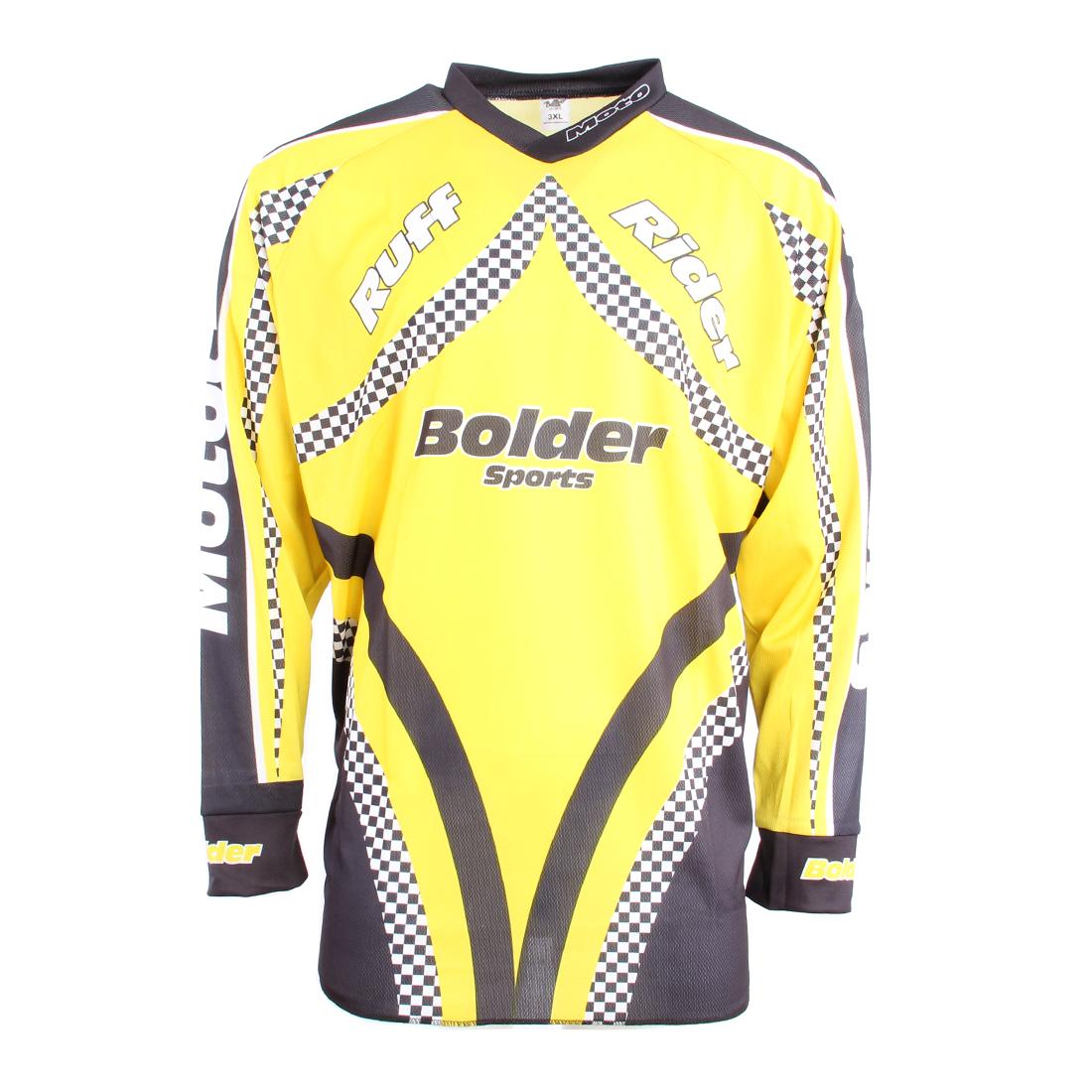 Triko Motocross žluté - Velikost: M