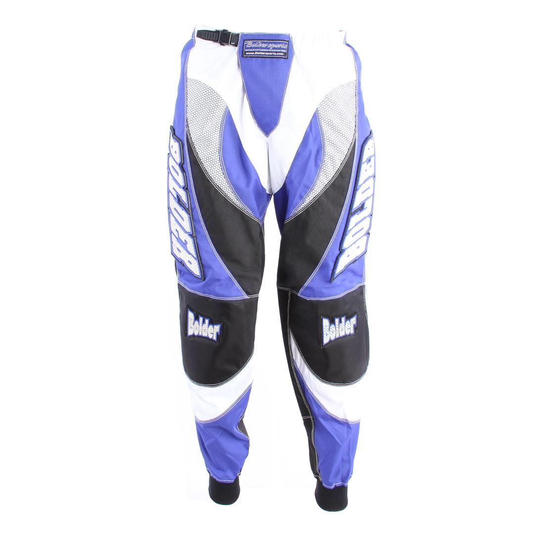 Kalhoty Motocross Kids modré - Velikost: 24