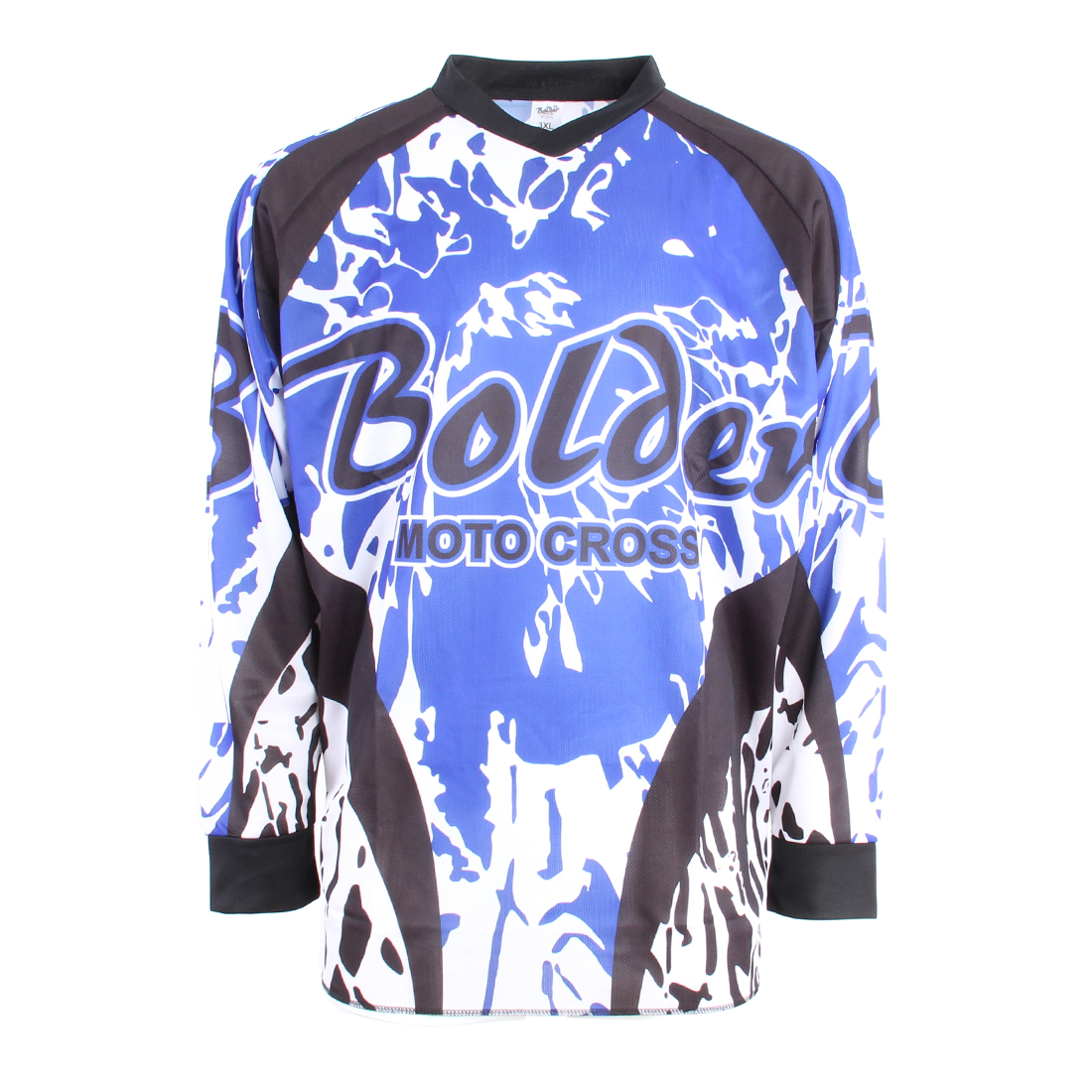 cdc4f201048 BOLDER 616 Triko Motocross modro - bílé - Bolder - Moto oblečení