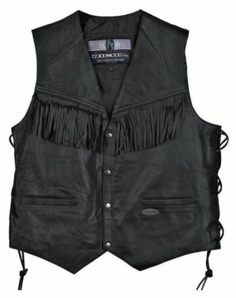 38037880d7f RICHA GILET kožená vesta s třásněmi - Bolder - Moto oblečení