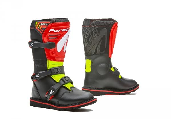 FORMA Rock Dětské moto boty černo červeno žluté velikost 36 - Bolder ... 4c4d8c715c